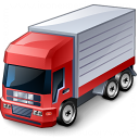 Truck Red Icon 128x128