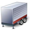 Truck Trailer Red Icon 128x128