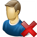 User Delete Icon 128x128