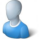 User Generic Blue Icon 128x128