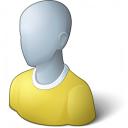 User Generic Yellow Icon 128x128