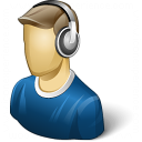 User Headphones Icon 128x128