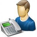 User Telephone Icon 128x128
