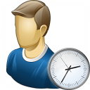 User Time Icon 128x128