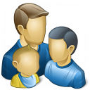 Users Family Icon 128x128