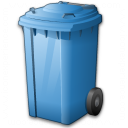 Waste Container Blue Icon 128x128