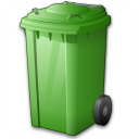 Waste Container Green Icon 128x128
