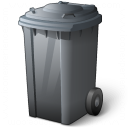 Waste Container Grey Icon 128x128