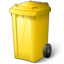 Waste Container Yellow Icon 128x128