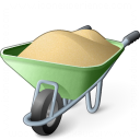 Wheelbarrow Full Icon 128x128