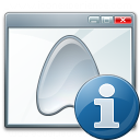 Window Application Information Icon 128x128