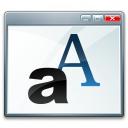 Window Font Icon 128x128