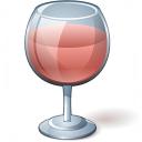 Wine Rose Glass Icon 128x128