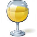 Wine White Glass Icon 128x128