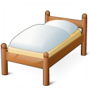 Wooden Bed Icon 128x128