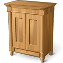 Wooden Cabinet Icon 128x128