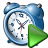 Alarmclock Run Icon 48x48