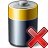 Battery Delete Icon 48x48