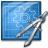 Blueprint Compasses Icon 48x48