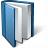 Book Blue Open Icon 48x48