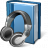 Book Headphones Icon 48x48