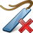 Bookmark Blue Delete Icon 48x48