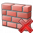 Brickwall Delete Icon 48x48