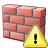 Brickwall Warning Icon 48x48