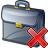 Briefcase Delete Icon 48x48