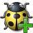 Bug Yellow Add Icon 48x48