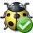 Bug Yellow Ok Icon 48x48