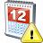 Calendar Warning Icon 48x48
