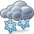 Cloud Snow Icon 48x48