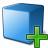 Cube Blue Add Icon 48x48