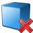 Cube Blue Delete Icon 48x48