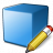 Cube Blue Edit Icon 48x48