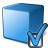 Cube Blue Preferences Icon 48x48