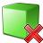 Cube Green Delete Icon 48x48
