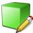 Cube Green Edit Icon 48x48