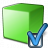 Cube Green Preferences Icon 48x48