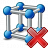 Cube Molecule Delete Icon 48x48