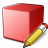 Cube Red Edit Icon 48x48