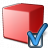 Cube Red Preferences Icon 48x48