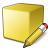 Cube Yellow Edit Icon 48x48