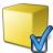 Cube Yellow Preferences Icon 48x48