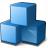 Cubes Blue Icon 48x48