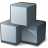 Cubes Grey Icon 48x48