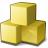 Cubes Yellow Icon 48x48