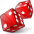 Dice Red Icon 48x48