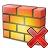 Firewall Delete Icon 48x48